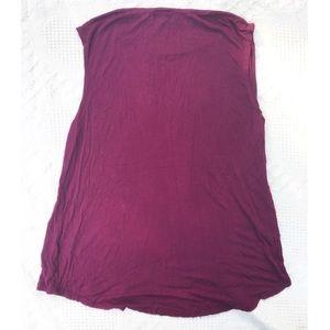 C Tops - Maroon sleeveless workout top